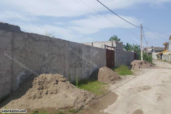940 متر زمین دو بر کوچه دیوارکشی شده  در طالب آباد منطقه آزاد انزلی