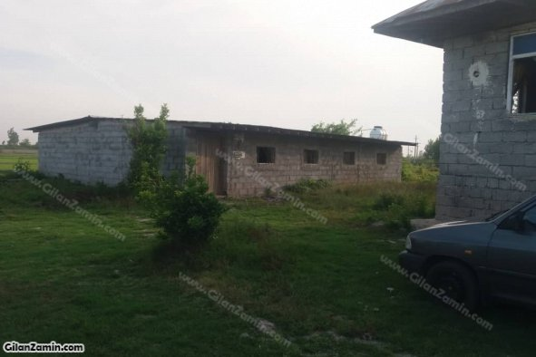 150 متر سوله مرغداری و 100 متر خانه روستایی در 1065 متر زمین کنار جاده آسفالته در لشت نشا