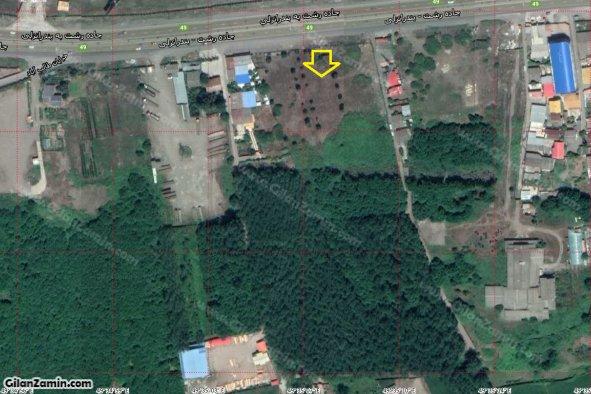 زمین تجاری مسکونی بر اتوبان اصلی منطقه آزاد بندرانزلی